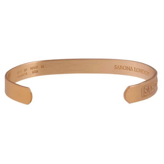 Custom Engraved Sabona Copper Bracelet, back