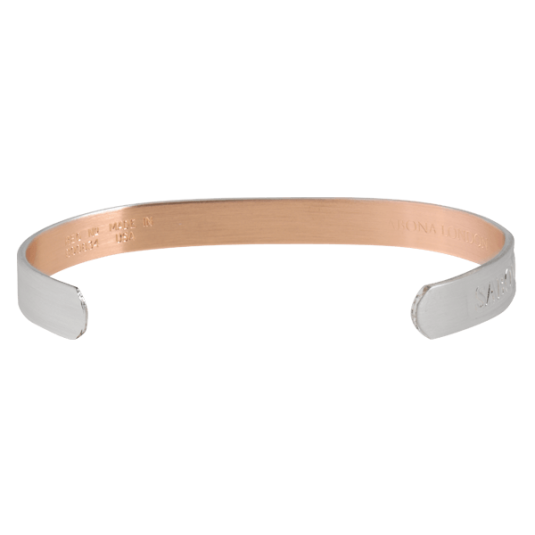 Custom Engraved Sabona Silver-Plated Copper Bracelet, back