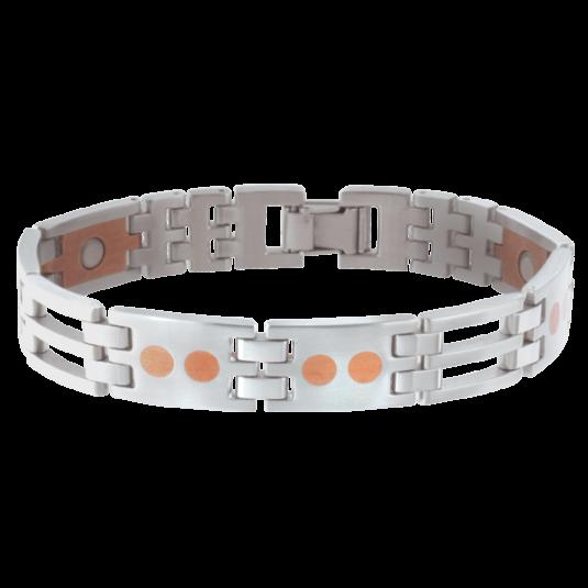 Stainless/Copper Link Magnetic Bracelet