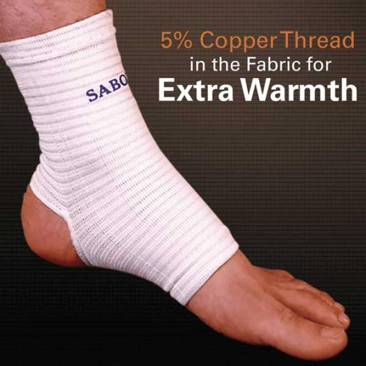 Copper Thread Ankle Support, close-up