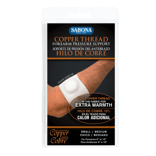 Copper Thread Forearm Pressure Support