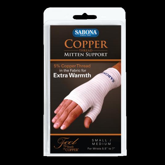 Copper Thread Mitten Support