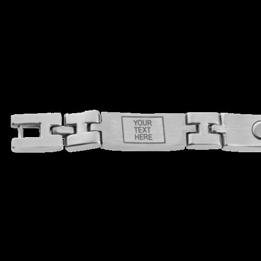 Unisex Magnetic Med ID Bracelet - Custom Engraved, closeup