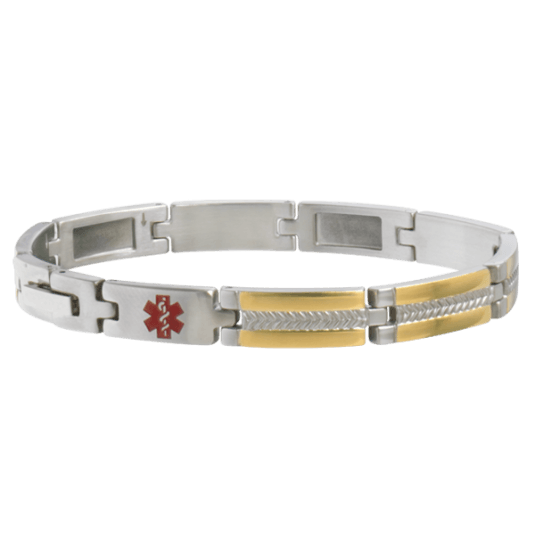 Two-Tone My Conditions Medical ID Bracelet
