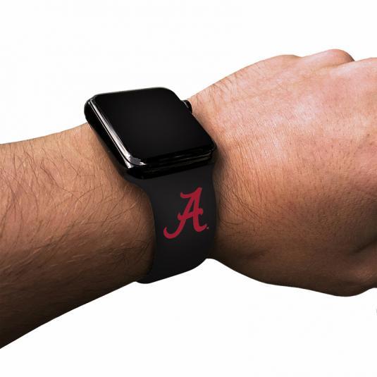 University of Alabama Crimson Tide Silicone Sport Band for Apple