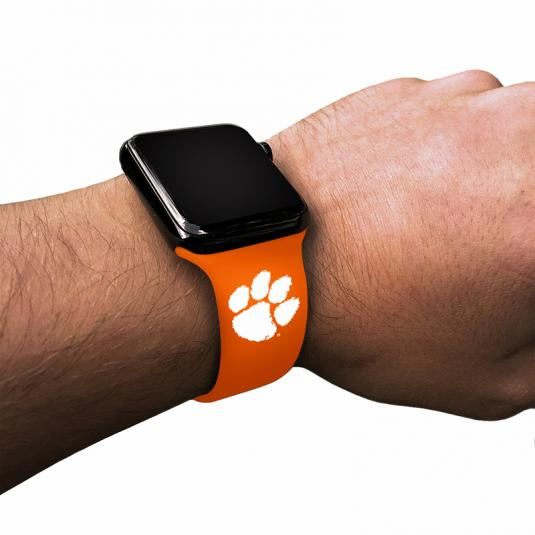Clemson University Tigers Silicone Sport Band for Apple Watch®