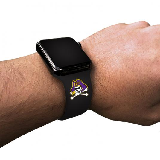 East Carolina University Pirates Silicone Sport Band for Apple Watch®