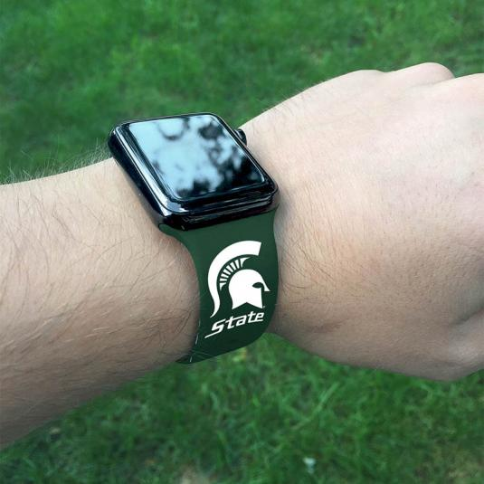 Michigan State University Spartans Silicone Sport Band for Apple Watch®