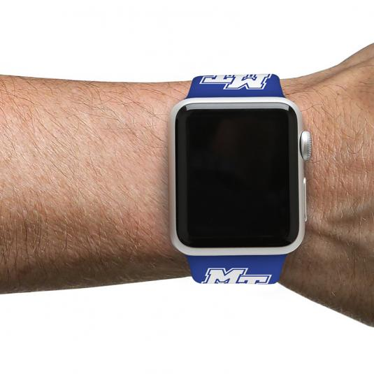 Middle Tennessee State University Blue Raiders Silicone Sport Band for Apple Watch®