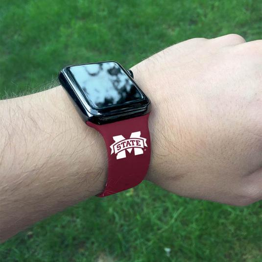 Mississippi State University Bulldogs Silicone Sport Band for Apple Watch®