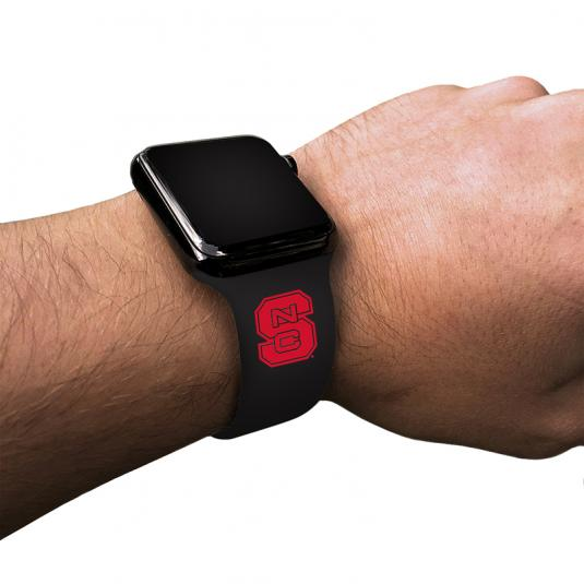 North Carolina State University Wolfpack Silicone Sport Band for Apple Watch®