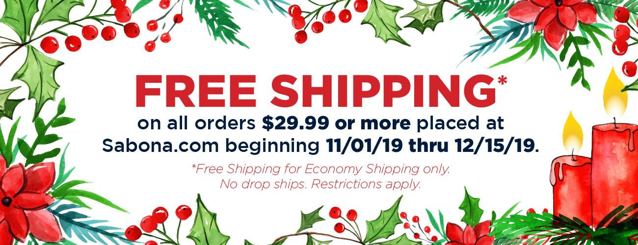 Free shipping for Christmas when you spend $29 or more!