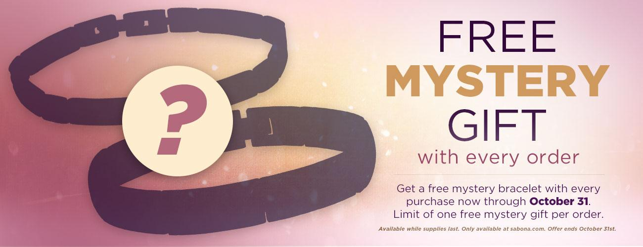 Free Mystery Bracelet with every order!