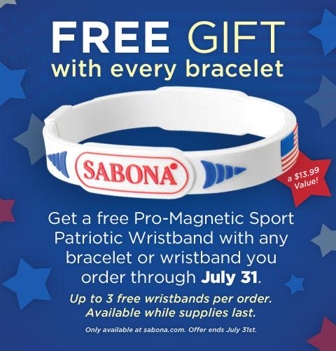 Get a FREE Patriotic Pro Magnetic Wristband with July!
