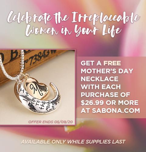 Get a free Necklace when you spent $26.99 at Sabona.com!