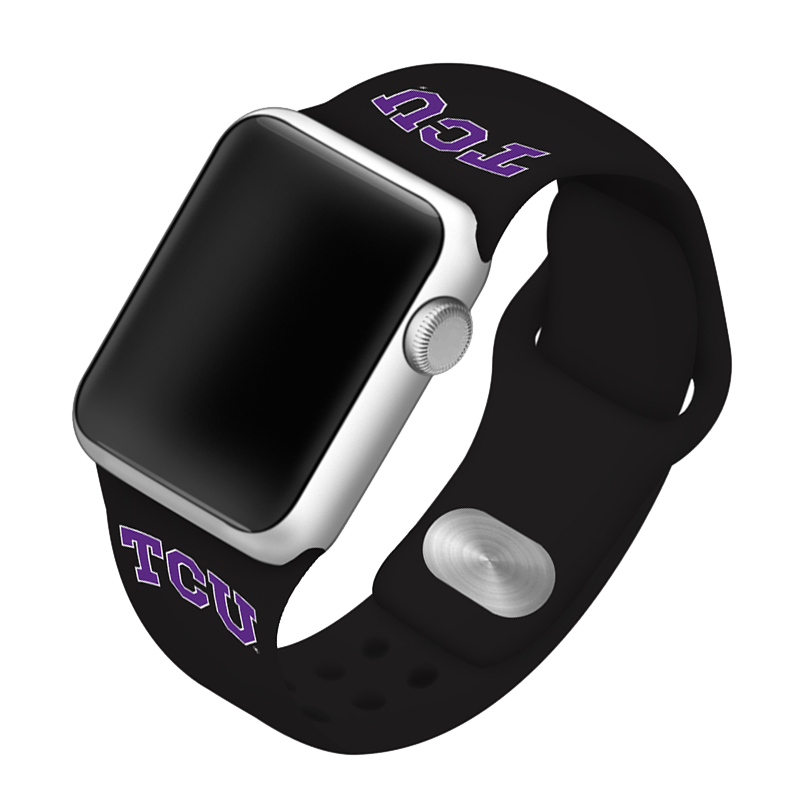 Texas Christian University Horned Frogs Silicone Sport Band for Apple Watch®