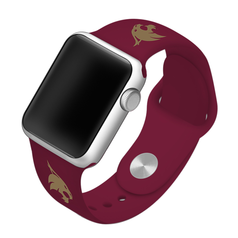 Texas State University Bobcats Silicone Sport Band for Apple Watch®