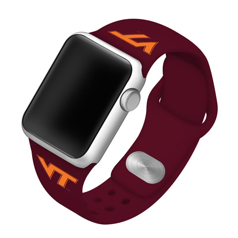 Virginia Tech University Hokies Silicone Sport Band for Apple Watch®