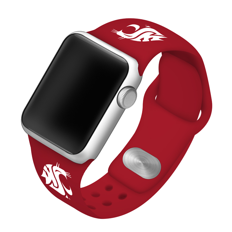 Washington State University Cougars Silicone Sport Band for Apple Watch®