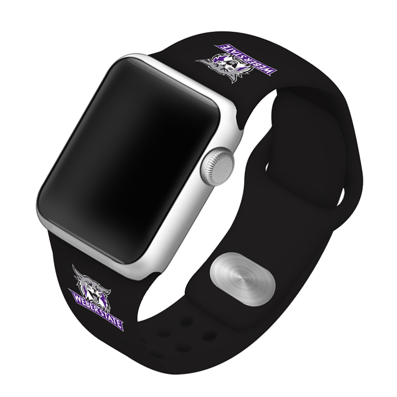 Weber State University Wildcats Silicone Sport Band for Apple Watch®