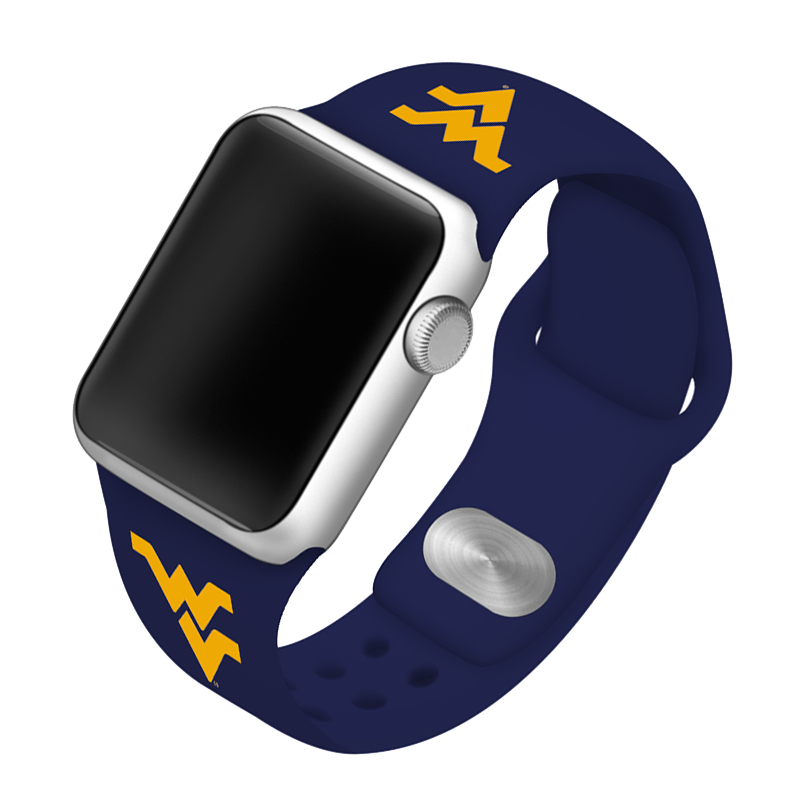 West Virginia University Mountaineers Silicone Sport Band for Apple Watch®