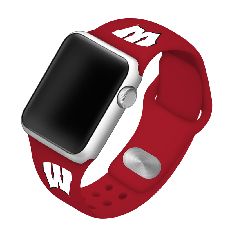 University of Wisconsin Badgers Silicone Sport Band for Apple Watch®