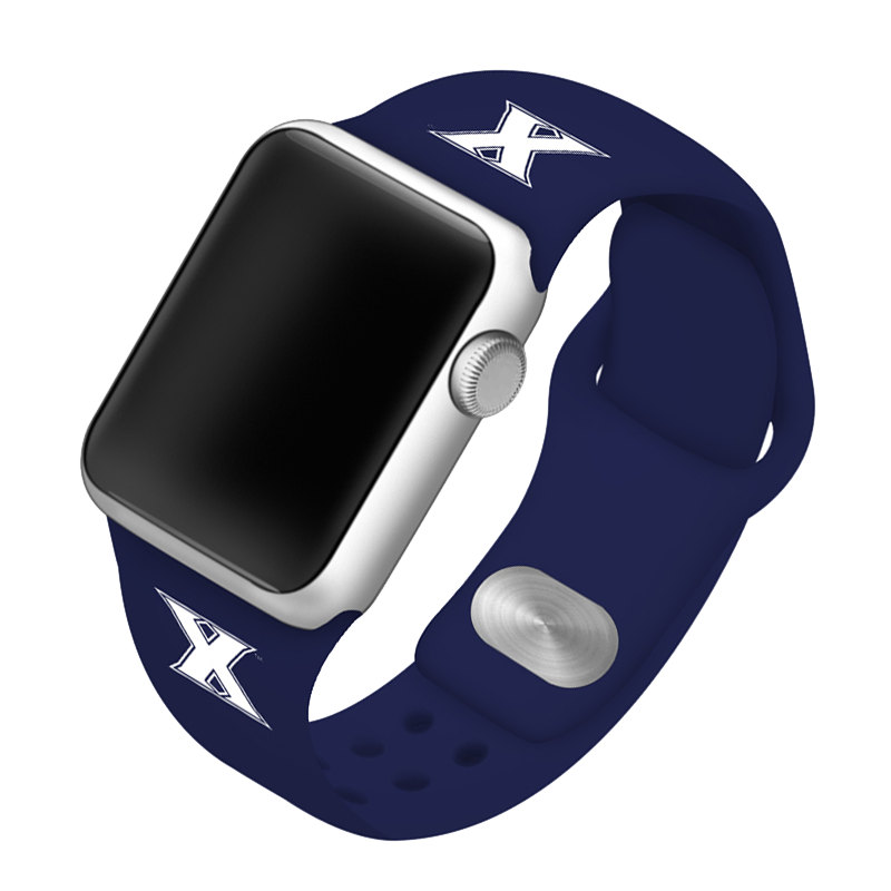 Xavier University Musketeers Silicone Sport Band for Apple Watch®